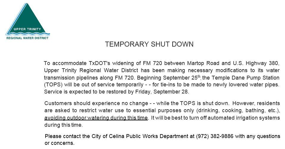 Upper trinity water restrictions