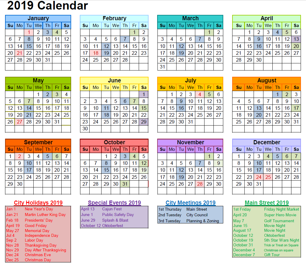 2019 City of Celina Calendar image