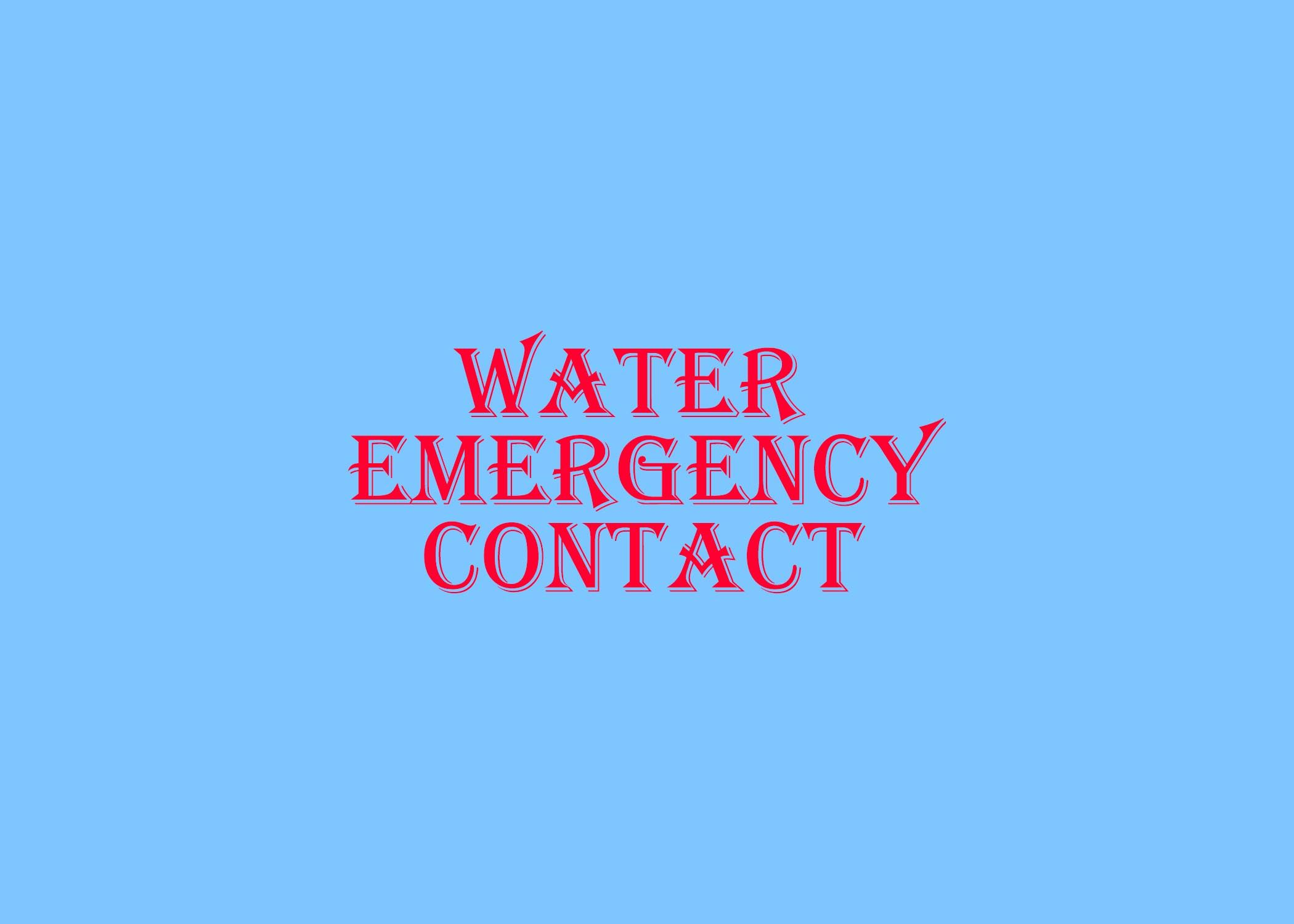WaterEmergency
