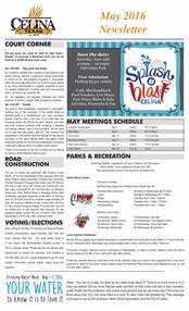 May city newsletter